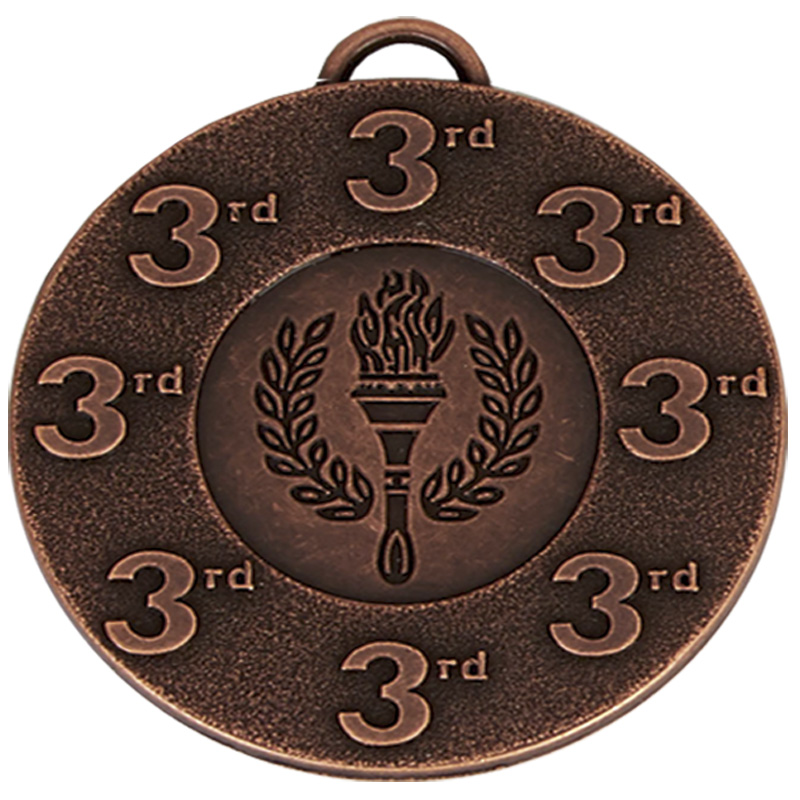 Bronze 3rd Place Torch Target Medal