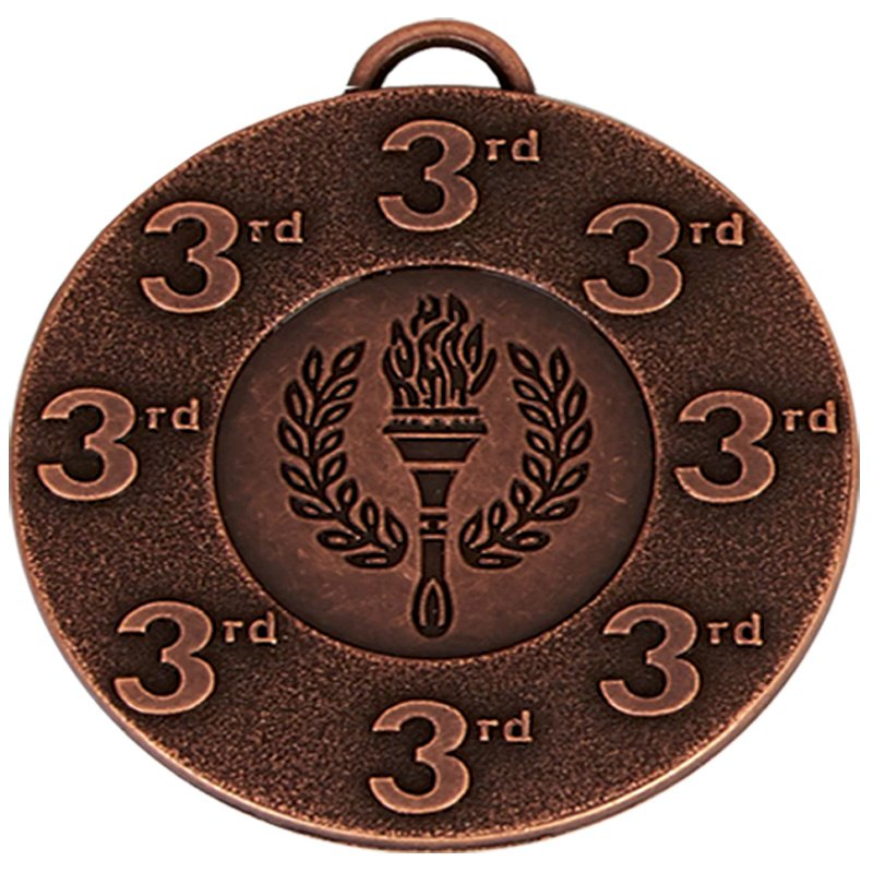 50mm Bronze 3rd Place Torch Target Medal