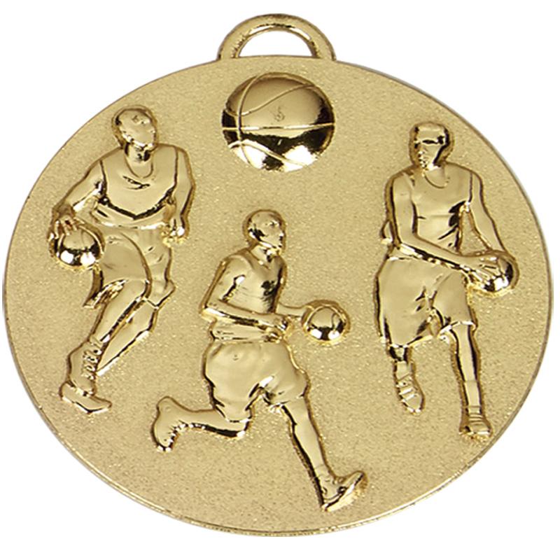 50mm Gold Team Basketball Target Medal