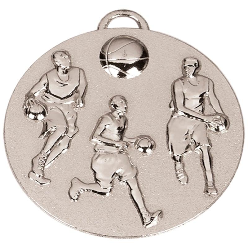 Silver Team Basketball Target Medal