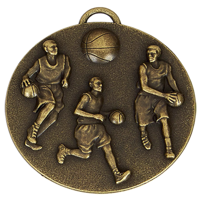 50mm Bronze Team Basketball Target Medal