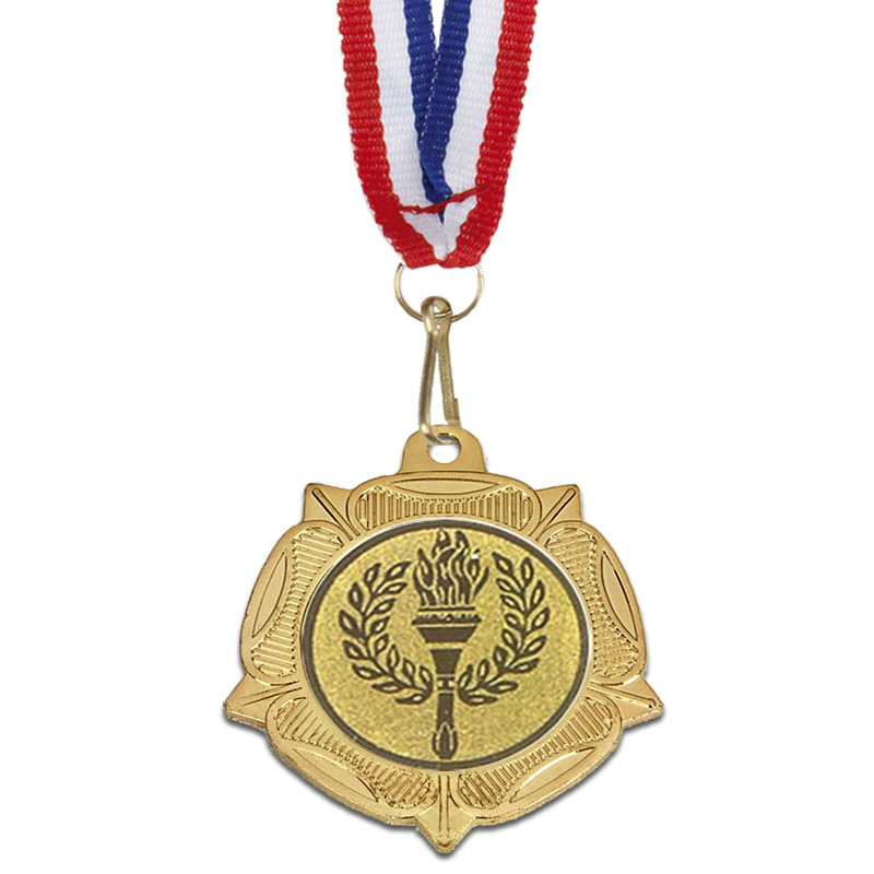 40mm Gold Centre Holder Tudor Rose Medal