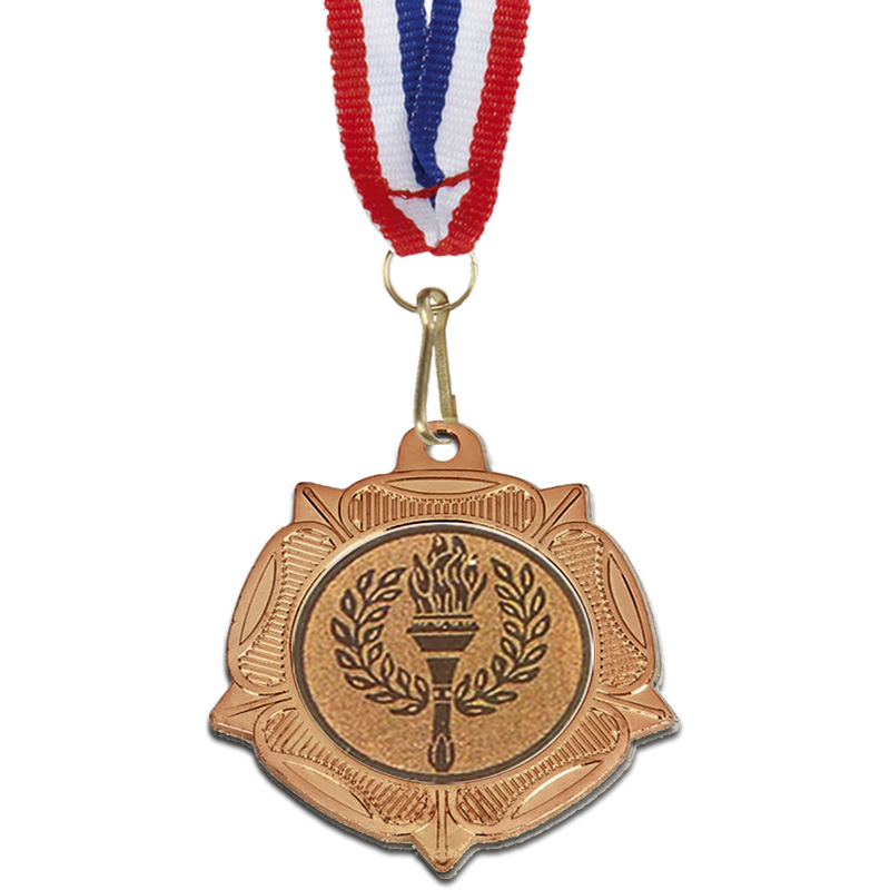Bronze Centre Holder Tudor Rose Medal