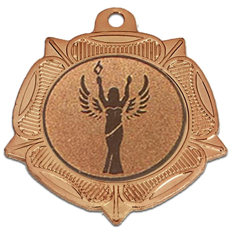 40mm Bronze Centre Holder Tudor Rose Medal