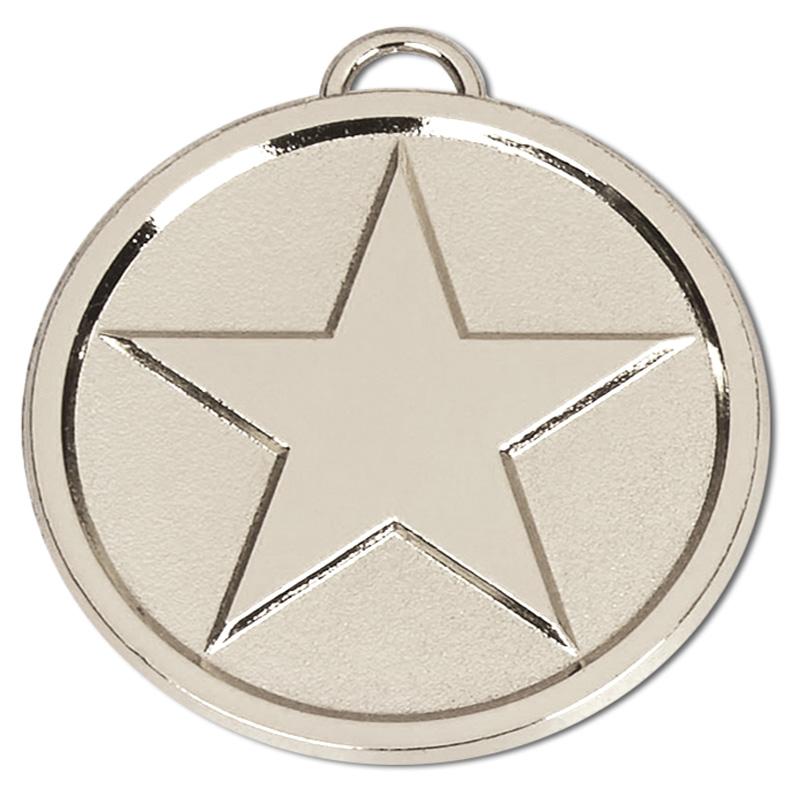 50mm Silver Bright Star Medal