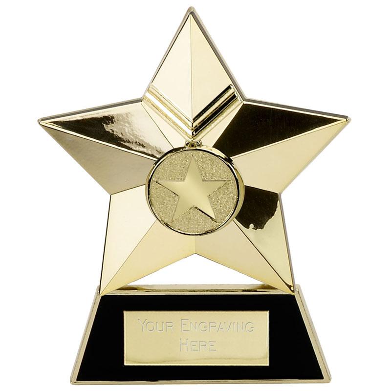 4 Inch Gold Metal Star Multi Award