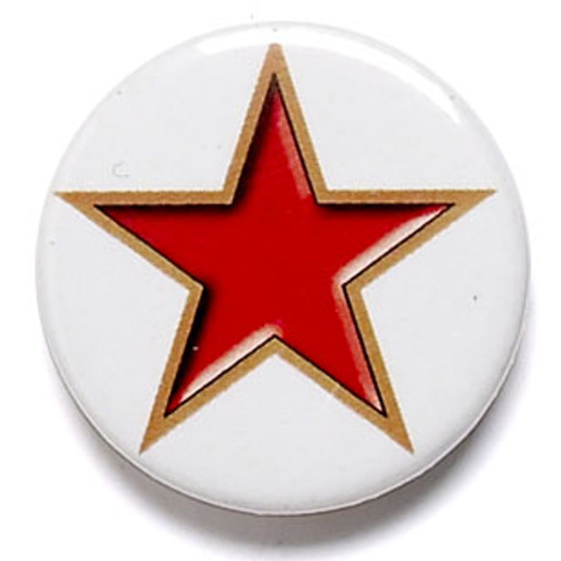 1 Inch Red Star Pin Badge