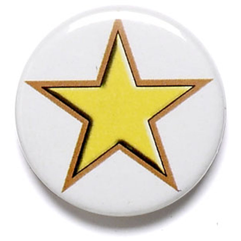 1 Inch Yellow Star Pin Badge