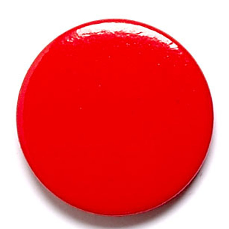 1 Inch Red Pin Badge