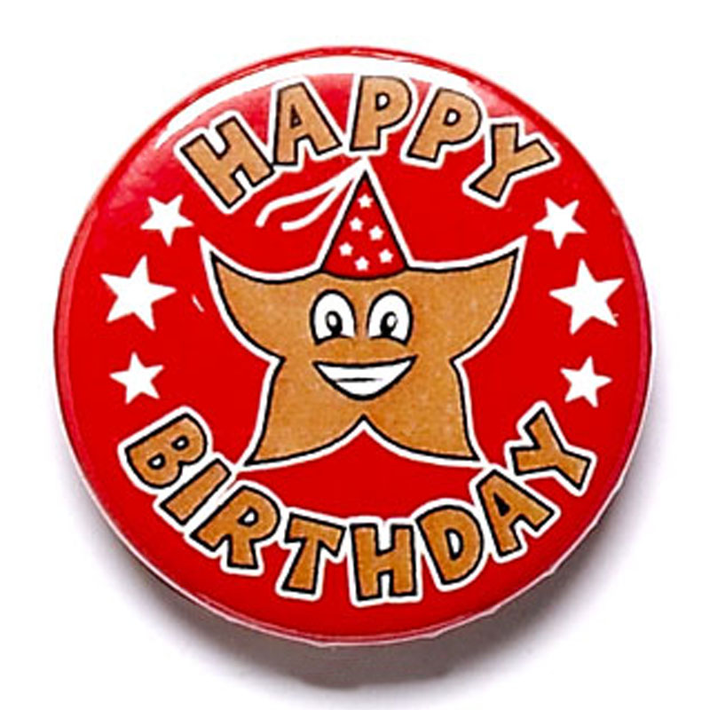 1 Inch Happy Birthday Pin Badge
