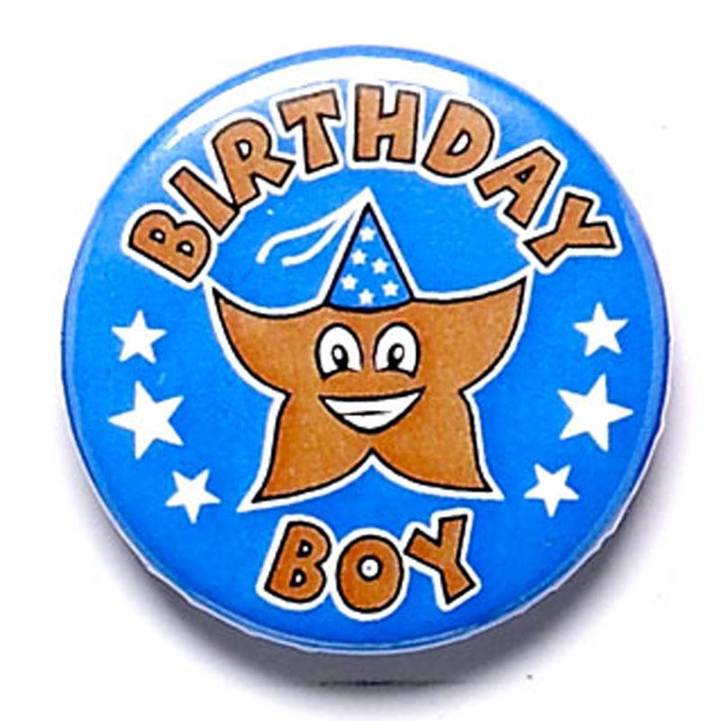1 Inch Birthday Boy Pin Badge