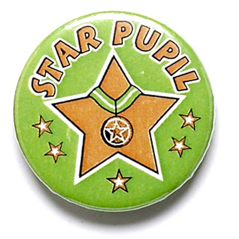 1 Inch Star Pupil Pin Badge