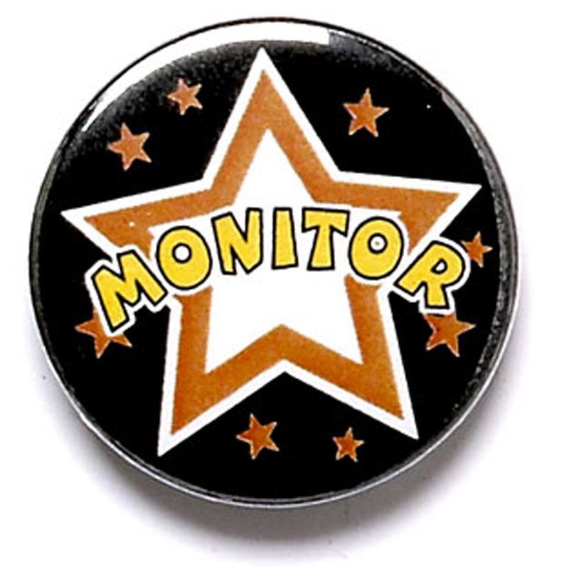 1 Inch Monitor Pin Badge