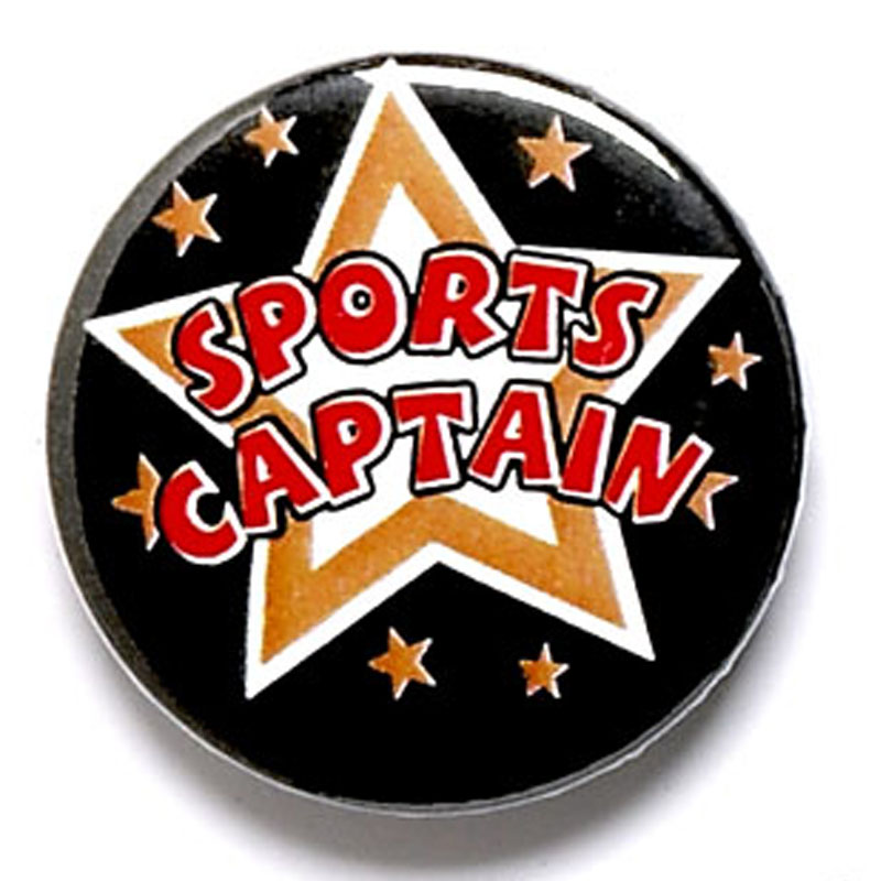 1 Inch Sports Captain Pin Badge