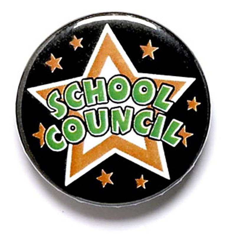 1 Inch School Council Pin Badge