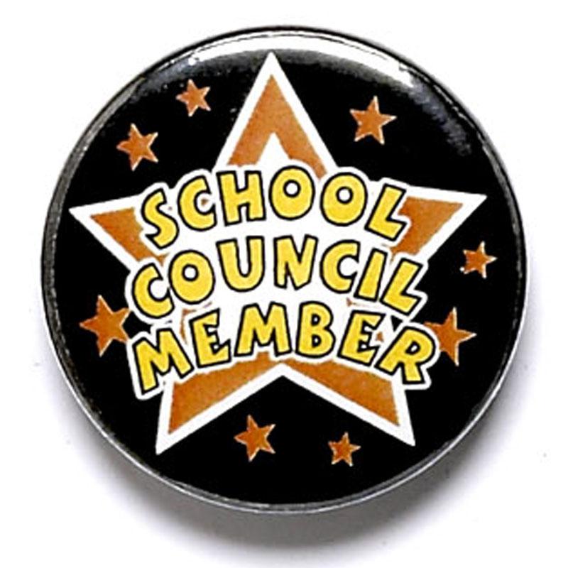 1 Inch School Council Member Pin Badge