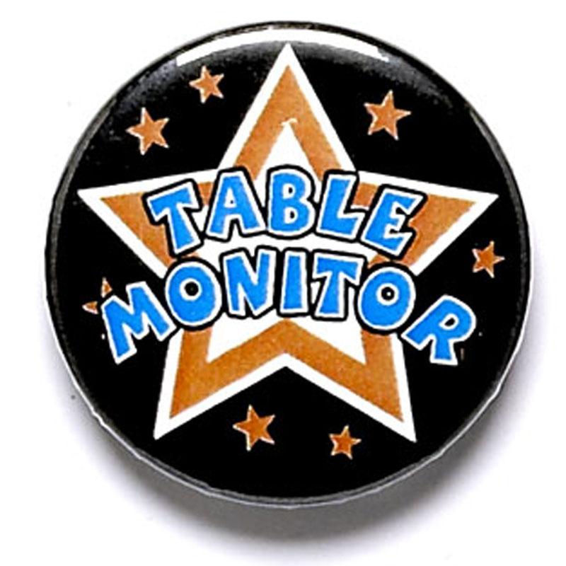 1 Inch Table Monitor Pin Badge