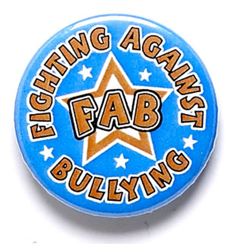 1 Inch Fighting Against Bullying Pin Badge