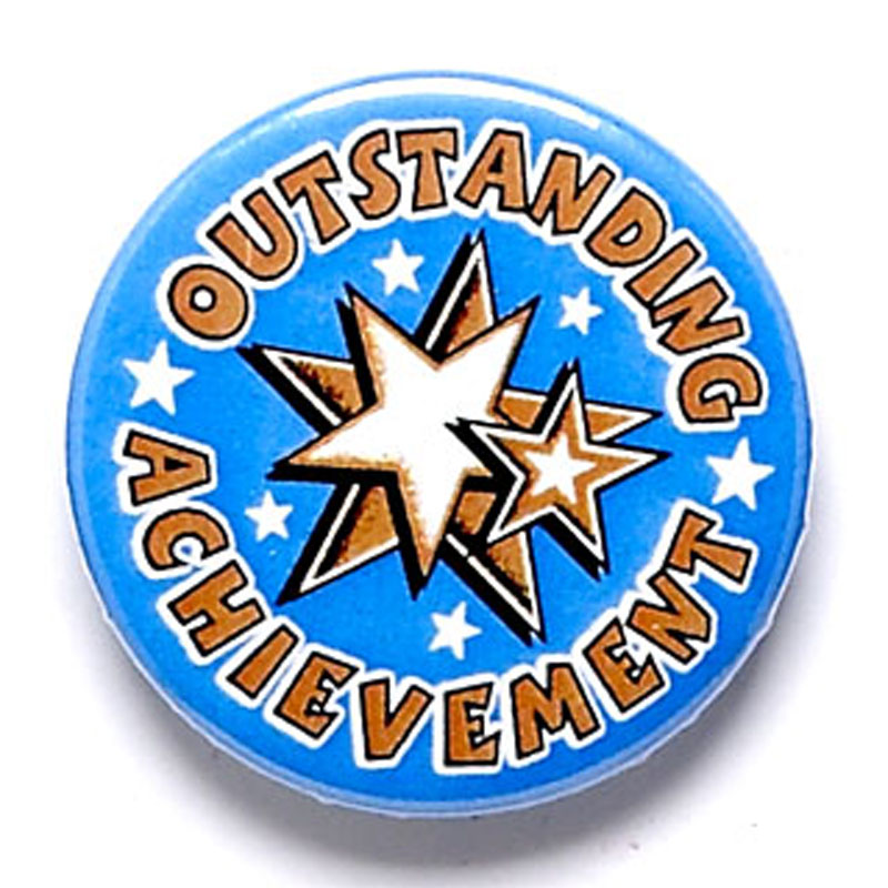 1 Inch Outstanding Achievement Pin Badge