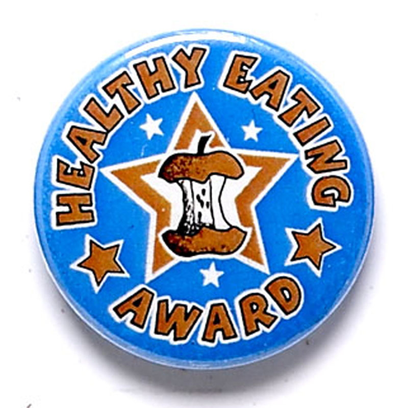 1 Inch Healthy Eating Pin Badge