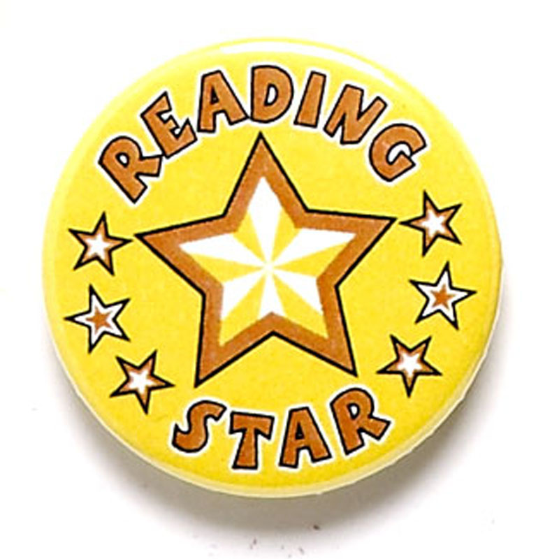 1 Inch Reading Star Pin Badge