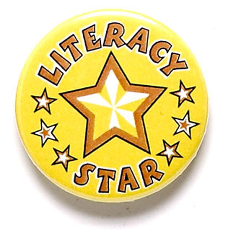 1 Inch Literacy Star Pin Badge