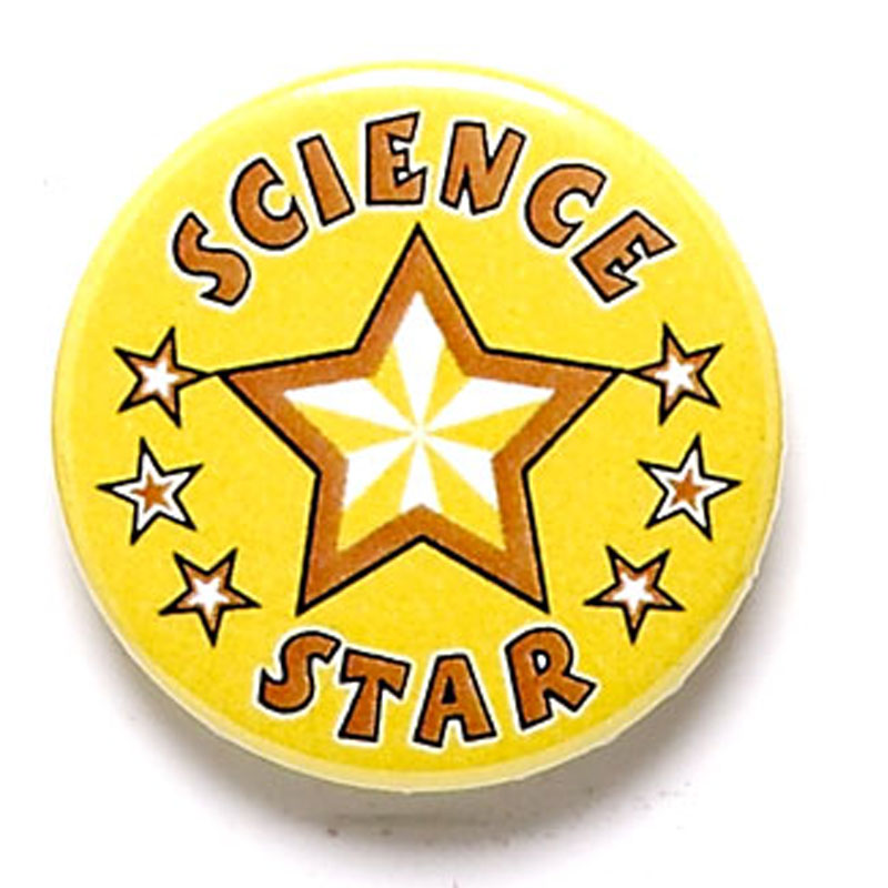 1 Inch Science Star Pin Badge