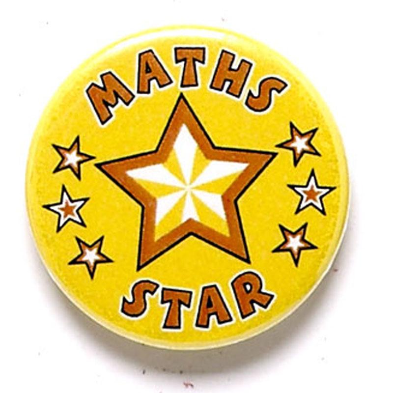 1 Inch Maths Star Pin Badge