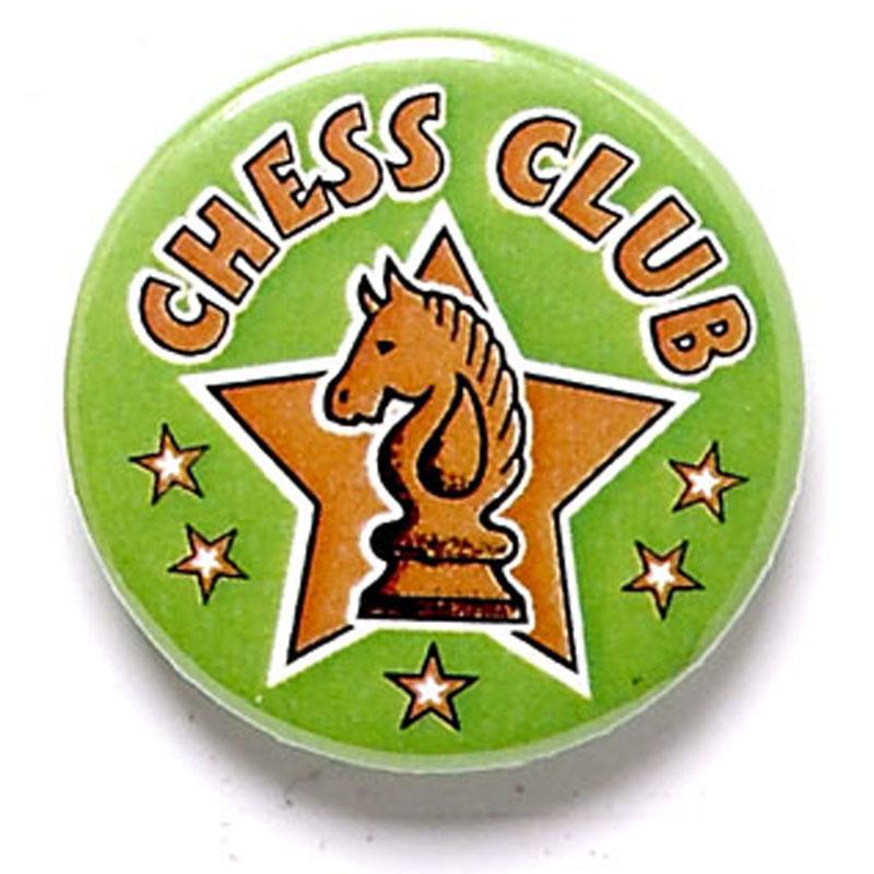 1 Inch Chess Club Pin Badge