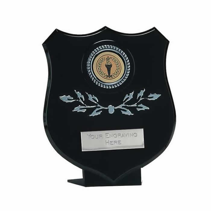 5 Inch Black And Silver Boston Shield