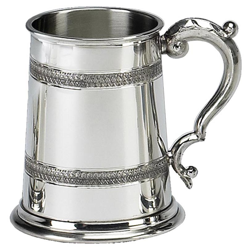 1 Pint Pewter Celtic Embossed Tankard