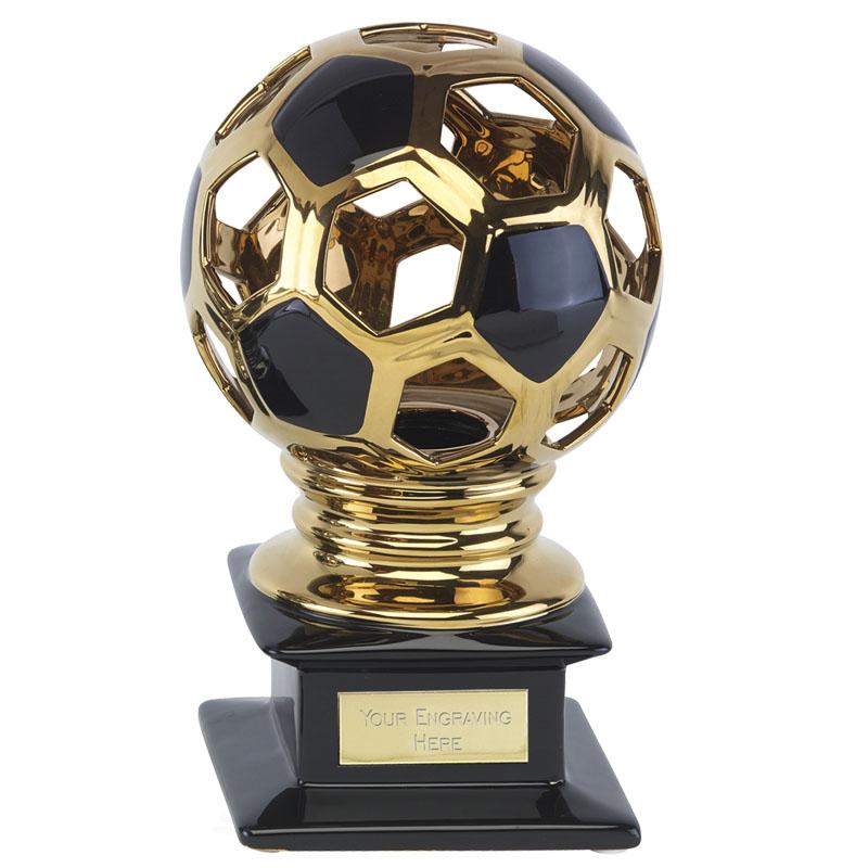 10 Inch High Gloss Gold Ball Football Cyclone Award