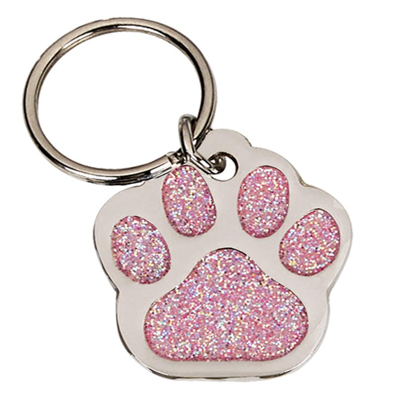 28mm Pink Paw Pets Companion Pet Tag