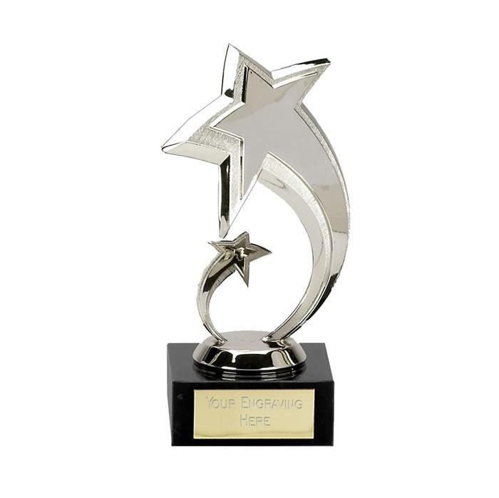 7 Inch Silver Shooting Star Multi Award