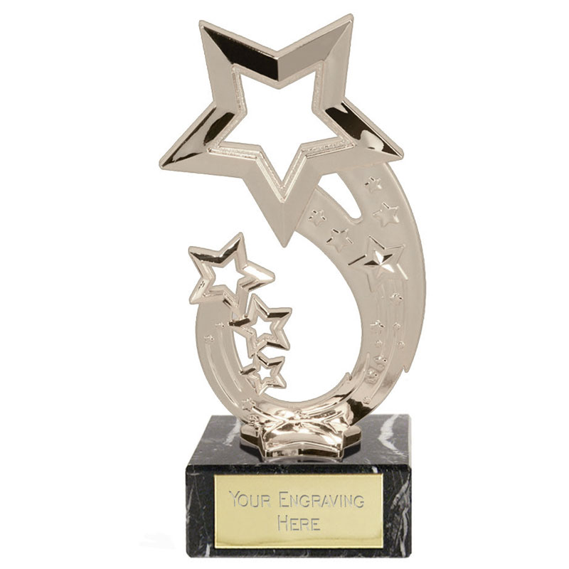 7 Inch Silver Star Holder Rising Star Award