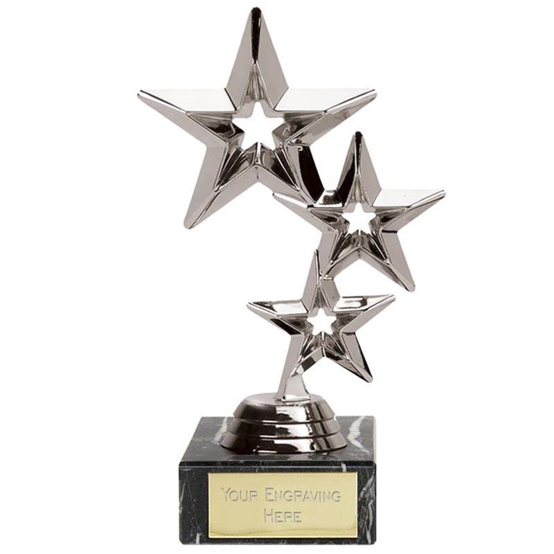8 Inch Silver Triplestar Award
