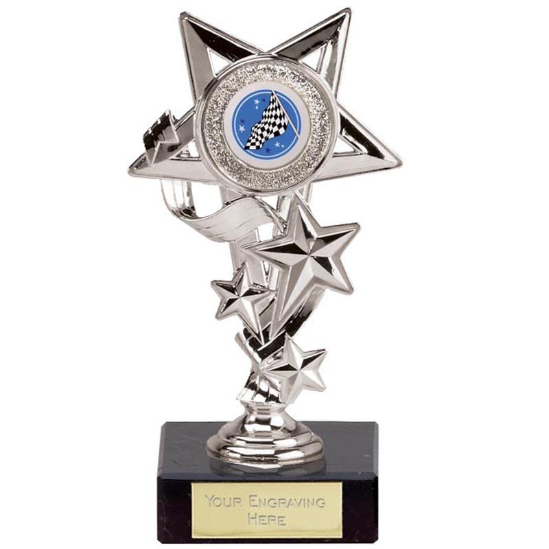 6 Inch Silver Centre Holder Five Star Award