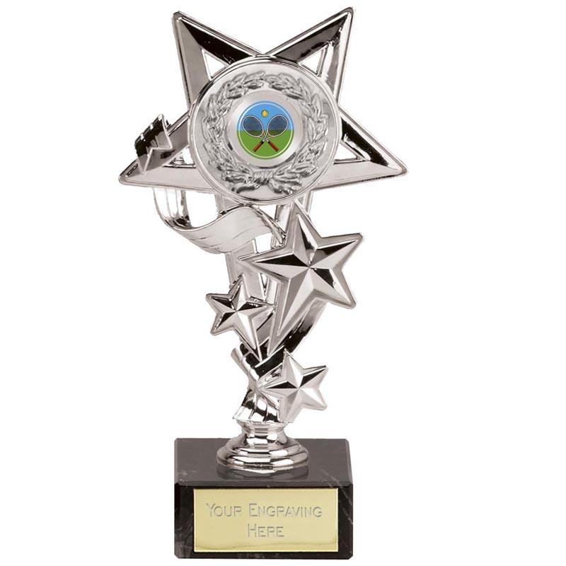 8 Inch Silver Centre Holder Star Cascade Award
