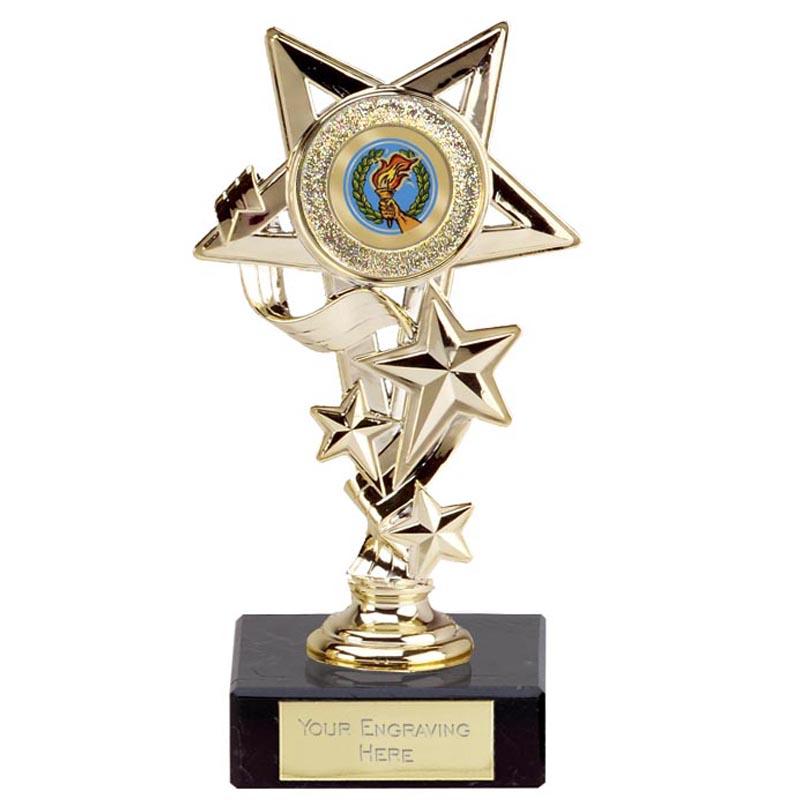 6 Inch Gold Centre Holder Star Cascade Award
