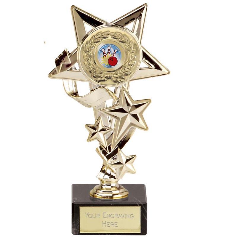 Gold Centre Holder Star Cascade Award
