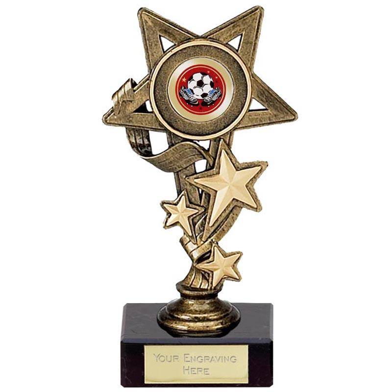 6 Inch Antique Gold Centre Holder Star Cascade Award