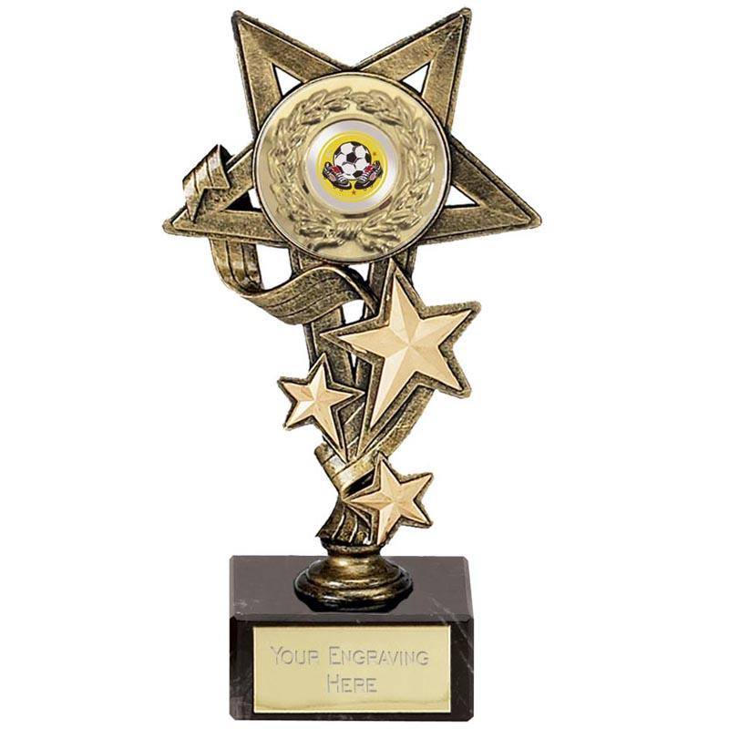 8 Inch Antique Gold Centre Holder Star Cascade Award