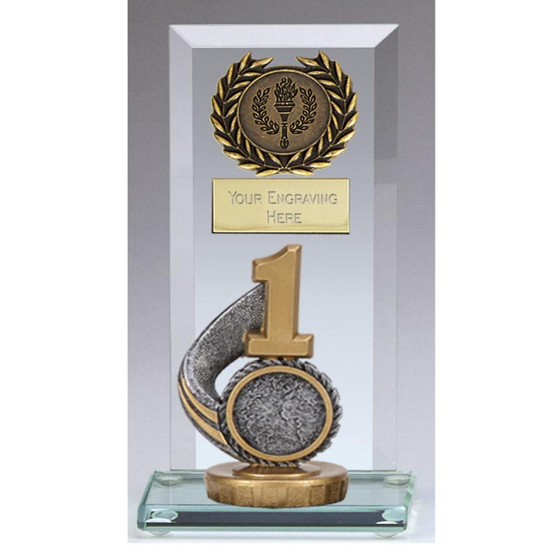16cm 1st Place Figure on Football Jade Core Award