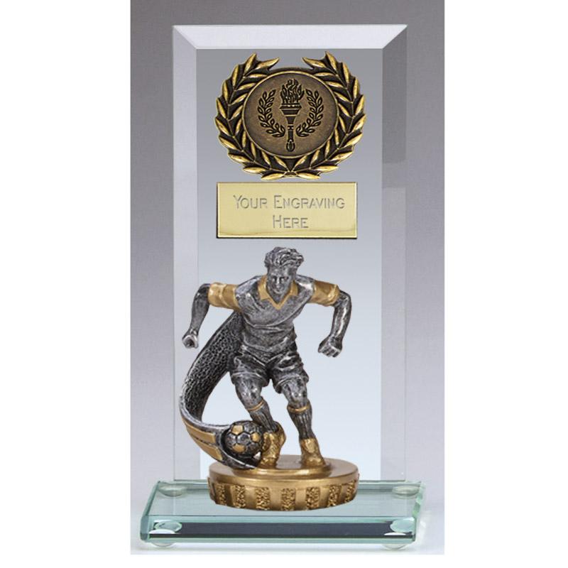 16cm Football Player Figure on Football Jade Core Award