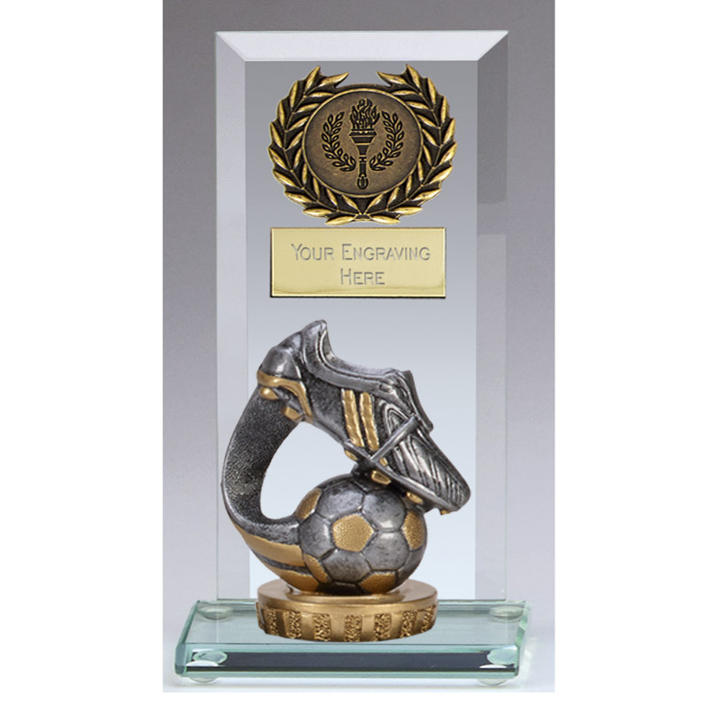 16cm Boot & Ball Wave Figure On Football Jade Core Award