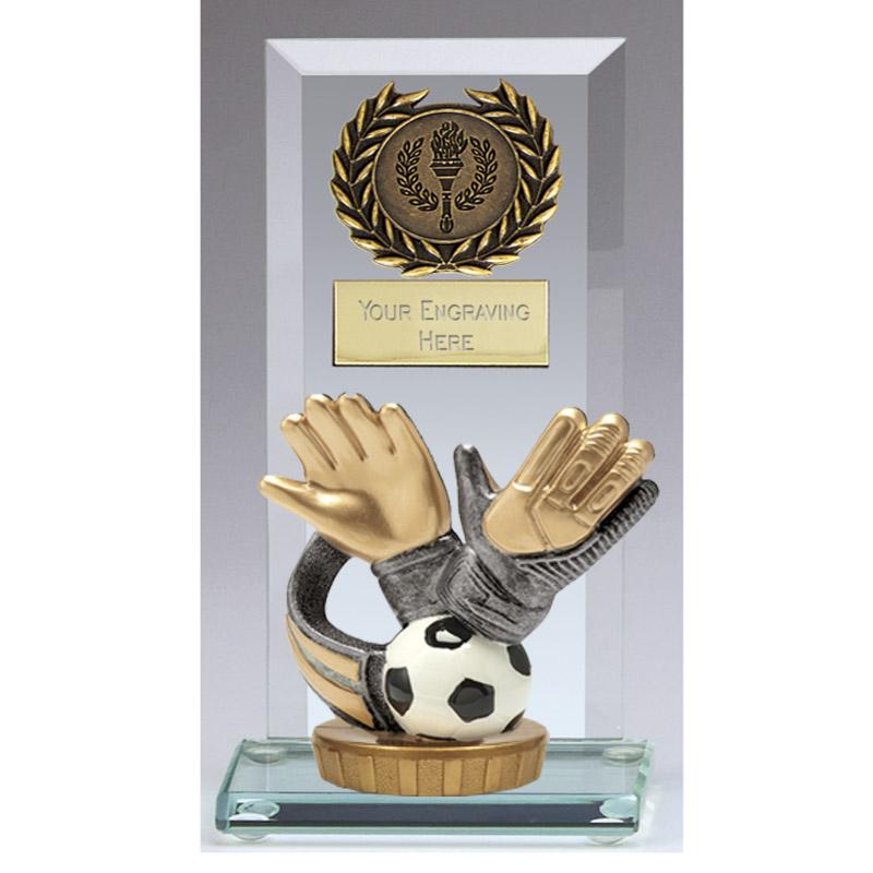 16cm Keeper Glove Figure On Football Jade Core Award