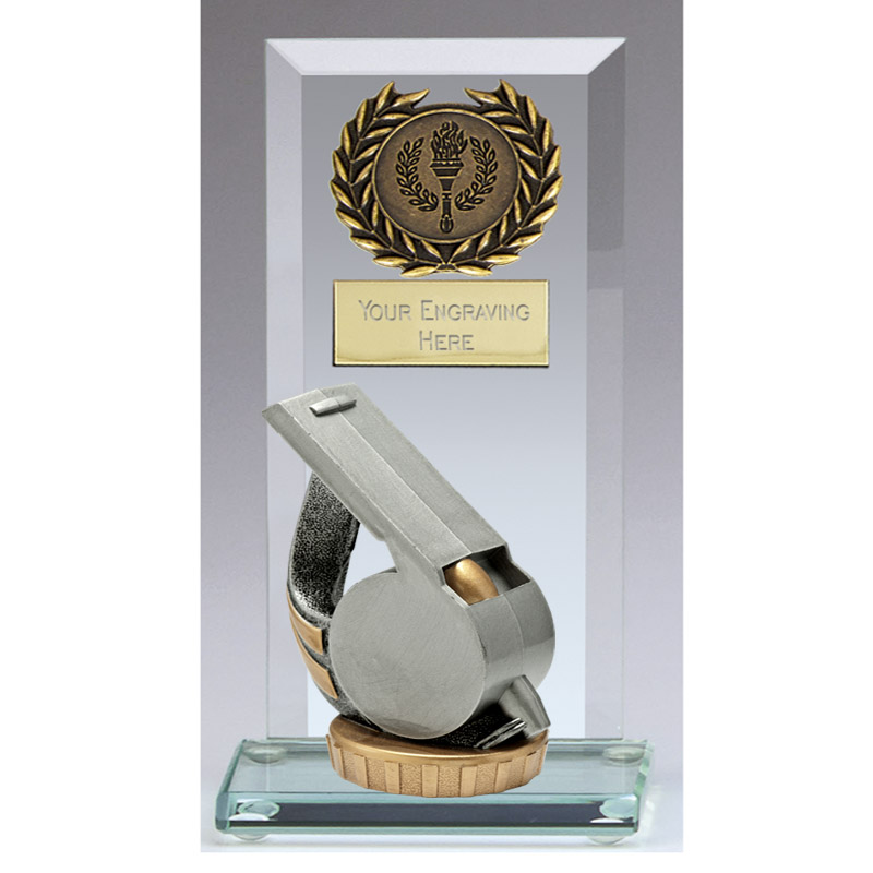 16cm Whistle Figure On Football Jade Core Award