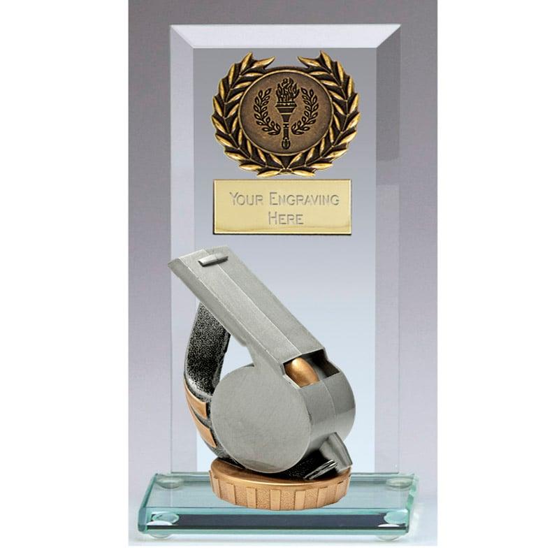 16cm Whistle Figure On Football Jade Core Award