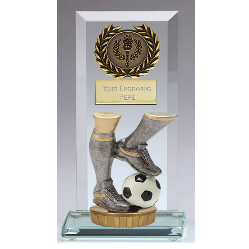 16cm Football Legs Figure On Jade Core Award