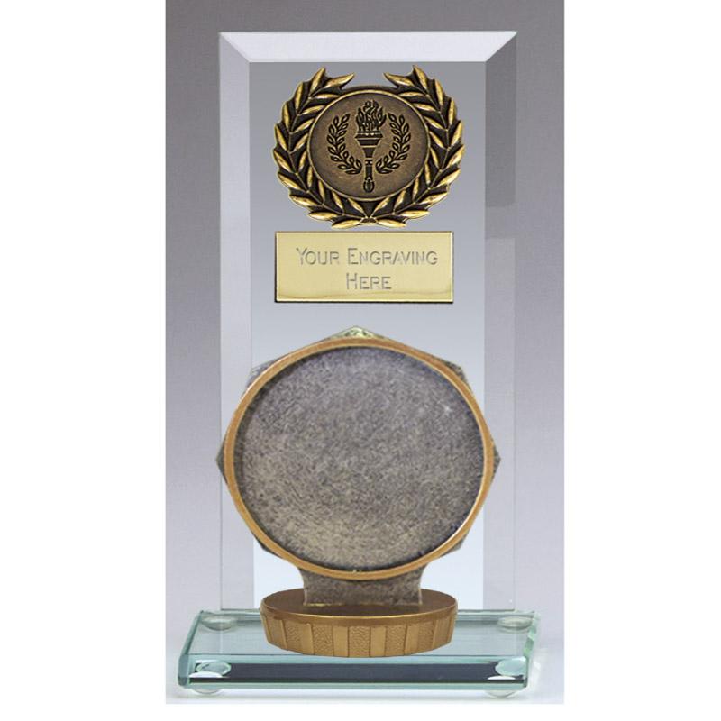 16cm 50mm Centre Holder Figure On Football Jade Core Award